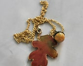 Acorn and Leaf Necklace - Peter Pan Kiss - Autumn - Fall - HooliganAlley