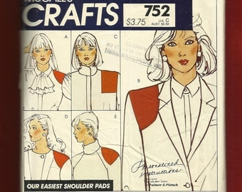 McCalls 752 Five sets for Shoulder Pads and Camisole
