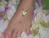 "Swarovski Crystal Green Butterfly ""Toe Gem"""