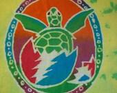 Grateful Dead Hatchling Turtle Batik Adult  Shirt