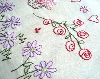 Flowers No3 Hand Embroidery Pattern by PDF