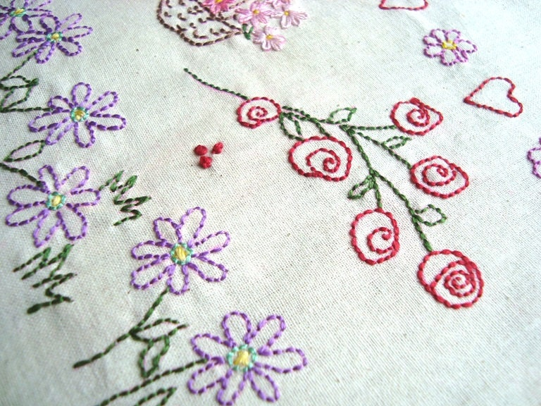 Flowers no hand embroidery pattern by pdf stitchingalways