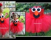 Elmo Tutu Dress - Can be made 3months-2T