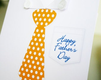 FATHERS Day Printable Card - Shirt Greeting Card - Print Your Own