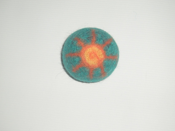 Felted Wool Rattle Ball - Sunshine - Ready to Ship