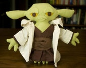 Handmade Flannel Yoda Plush