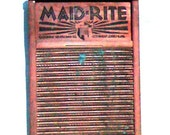 Vintage Maid Rite Washboard from Columbus Washboard Co. - price reduction