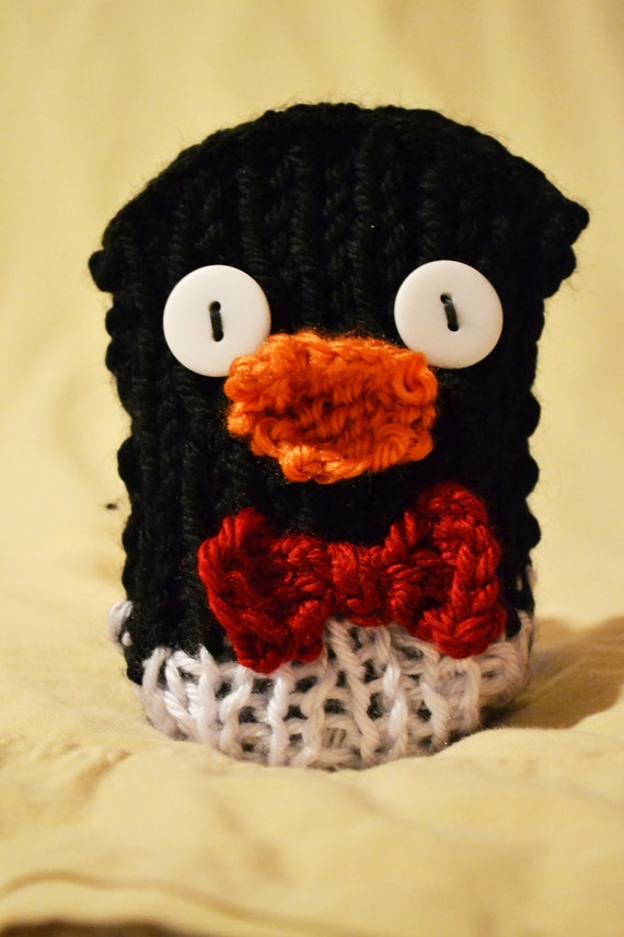 Peterson the Penguin - Knit Cell Phone Cozy Case