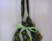 SALE Hobo Style Bag Purse Over the Shoulder Drawstring