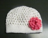 Customized Crocheted Hat with/without flower