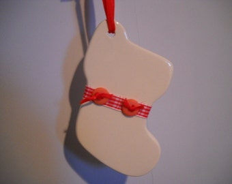Stocking Porcelain Personalized Ornament