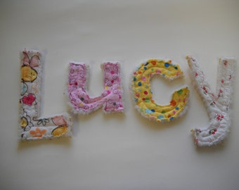 Set of 5 Custom made fabric letter Name