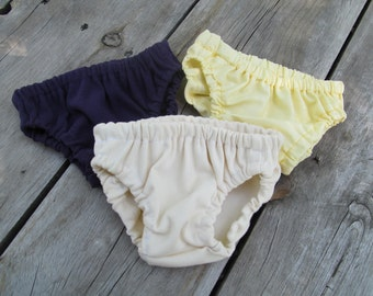 Set of 3 Simple Diaper covers any color nb-24month