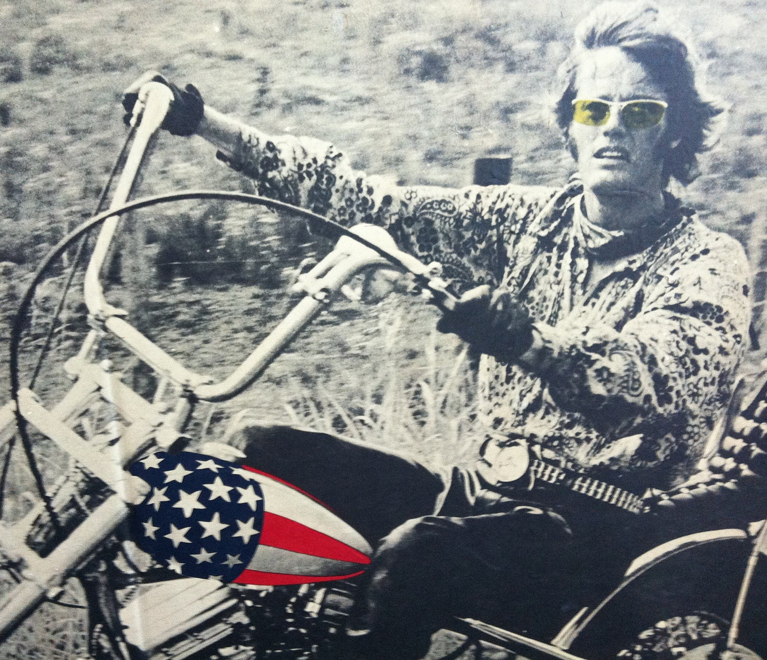 easy rider original peter fonda poster from the 1960s. Black Bedroom Furniture Sets. Home Design Ideas
