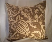 20 x 20 Tan and Cream Pillow Cover