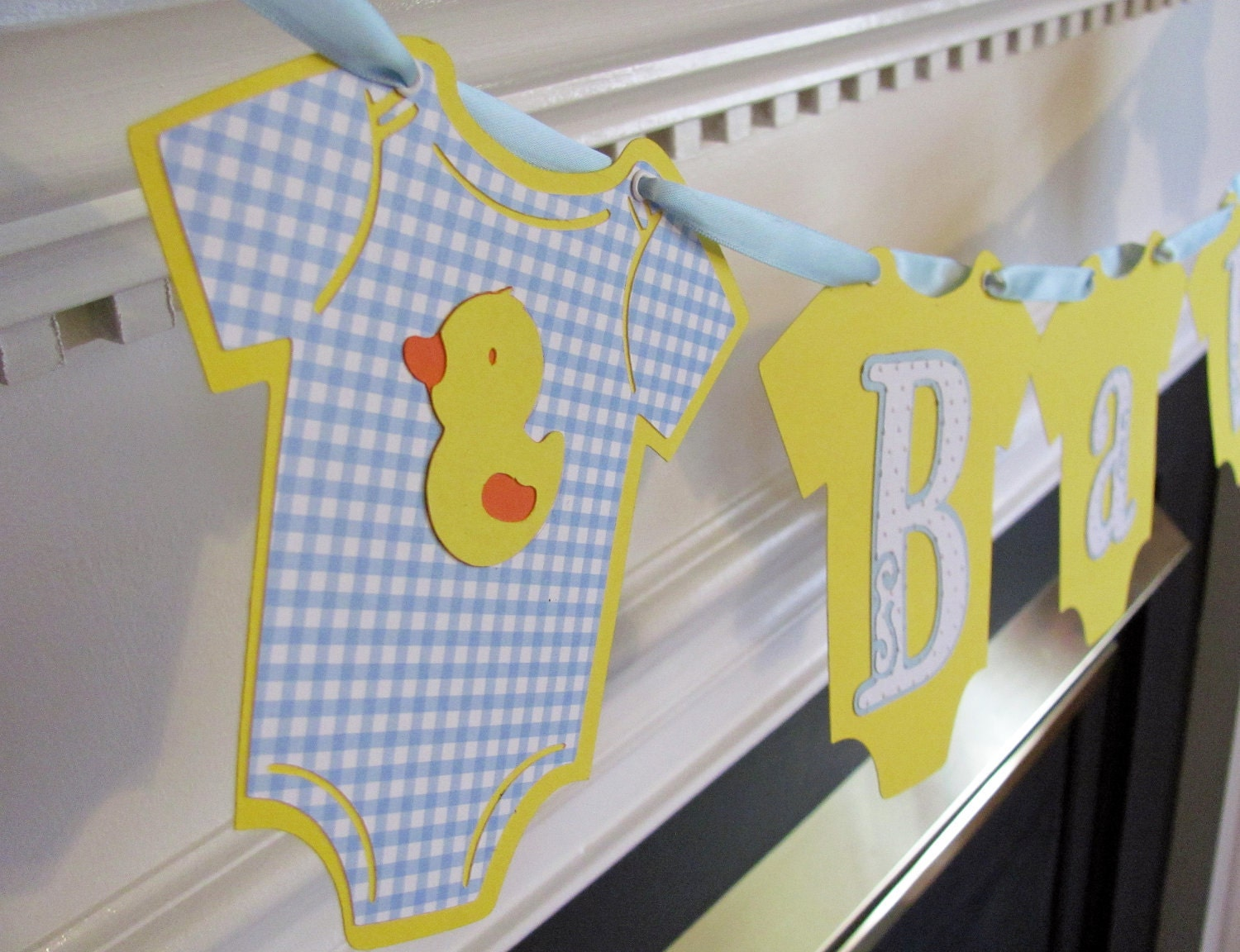 Reserved baby onesie duck baby shower banner by Baby shower banners