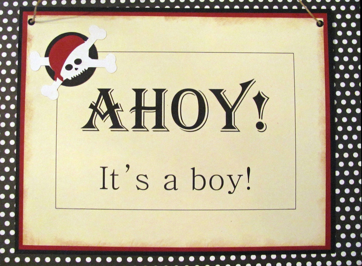 items similar to pirate baby shower sign ahoy it 39 s a boy on etsy