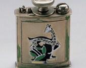 Perfume Atomizer Evans Atarmist Purse Atomizer in Metal with Giraffe