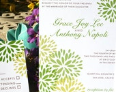 Green Blossom Floral Wedding Invitation, or customize the colors