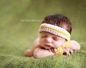 Twin - Little Running Man - Photography Prop Sets- Headband and wristcuffs - newborn, 3-6 months, 6-9 months, 9-12 months