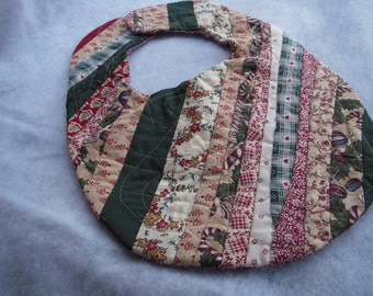 Strip Quilted Christmad Baby Bib  SALE