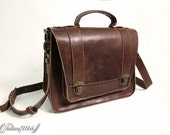 Hand Stitched Leather Messenger Bag