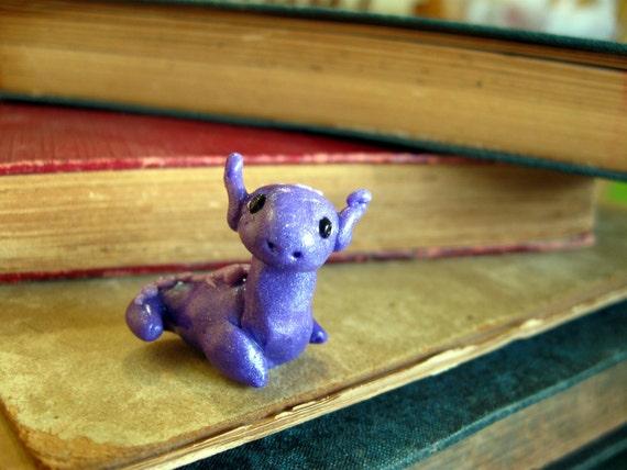 Tiny Purple Dragon Figurine