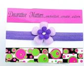 Purple and lavender daisy headband