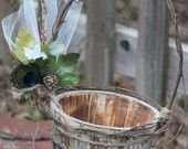 Rustic Wedding Flower girl basket