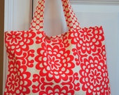 Everyday Tote in Amy Butler fabric- purse, beach, gym, library, crafting, gift, little girl, travel