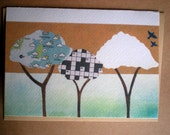 Three Trees Greetings Card