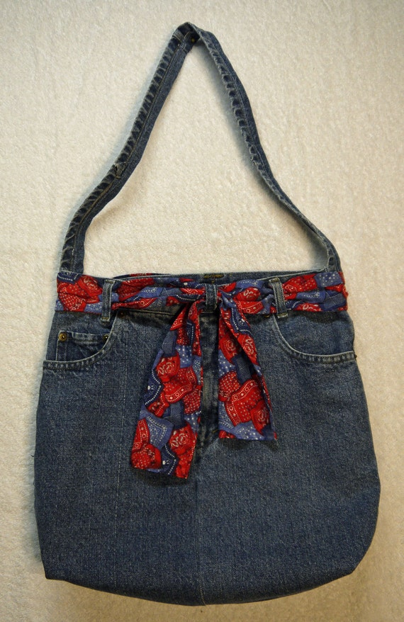 Denim hip bag / purse, recycled from a pair of jeans