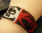 Magic the Gathering Red Black Mana Bracelet MADE TO ORDER
