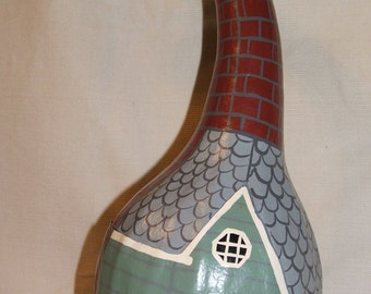 "Gourd art - Sage House, ""The Gourdons of Gourdonville"""