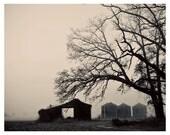 8x10 Photograph Old Farm Foggy Morning