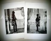 "Star Wars ""Men of Distinction"" set of two 11x17 prints (Darth Vader & Boba Fett), unframed"