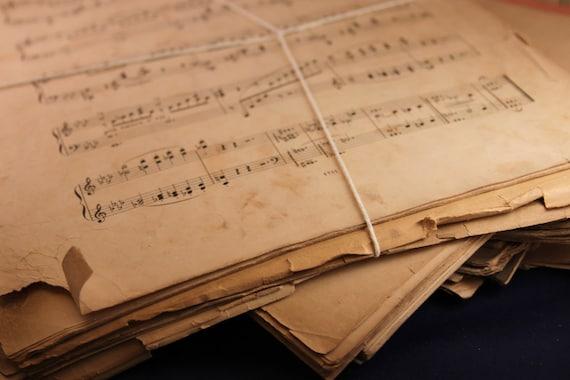 Vintage Sheet Music - Paper Ephemera 1880s-1910s