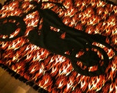 Motorcycle Blanket with Flames