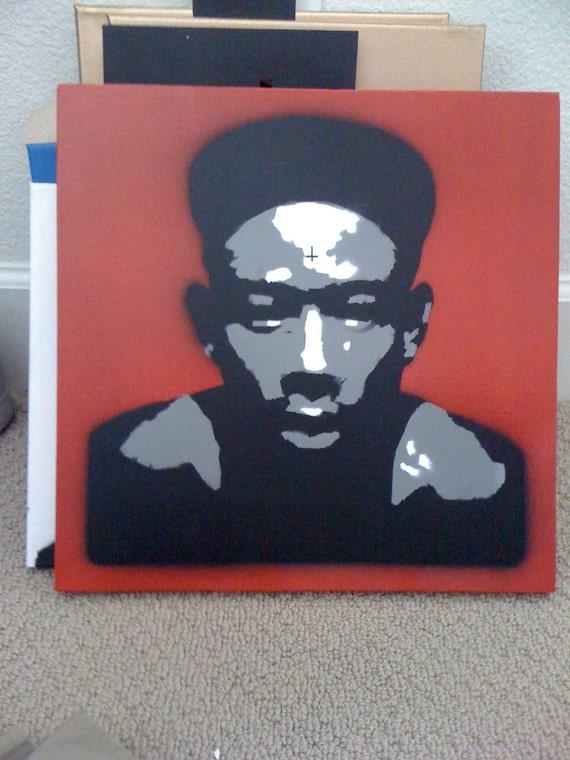 Tyler The Creator graffiti stencil canvas