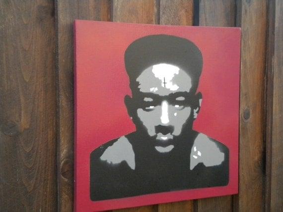 Items similar to Tyler The Creator graffiti art stencil ...