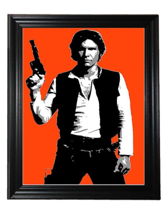 Star Wars art Han Solo print 16X20