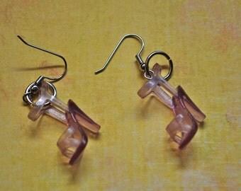Grape Barbie Shoe Earrings