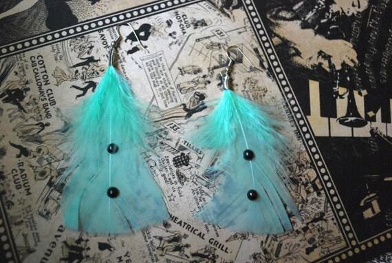 Mint Green Tuxedo Earrings