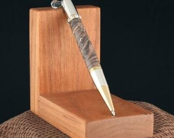 Handmade Brown Stabilized Box Elder Diva Pen