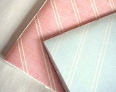 Set of Notebooks- Pink and Blue Stripes
