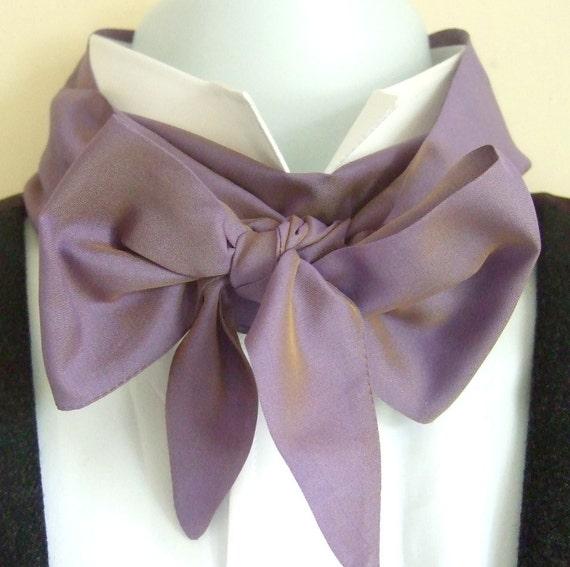 Victorian Bow Tie Lavender Shot Silk