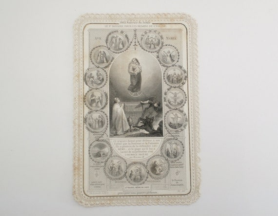 Antique French Catholic Card
