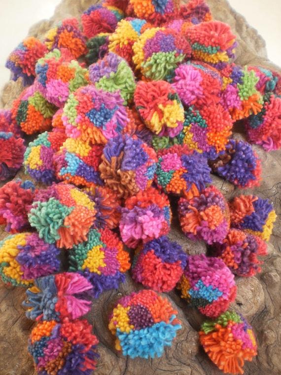 Pom Pom Beautiful Bright And Fluffy Each MultiColour 100 pom pom