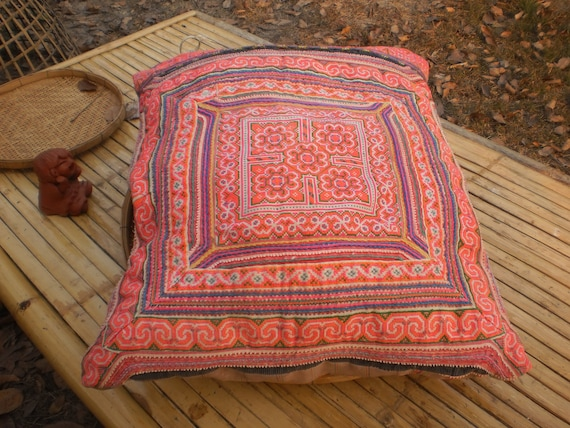 Hmong Hilltribe Vintage Upcycled HandMade Cushion Cover