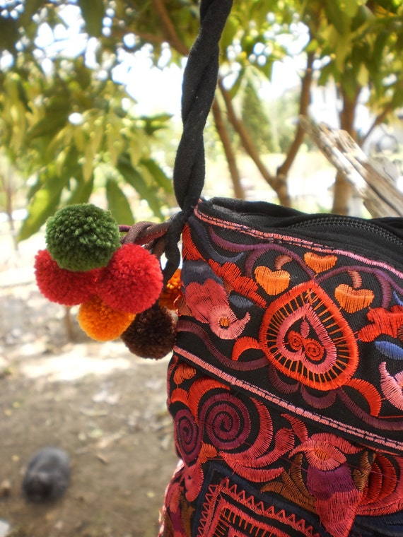 Tribal Vintage Hmong Purse HandMade With Upcycled Hmong  Hilltribe Textile